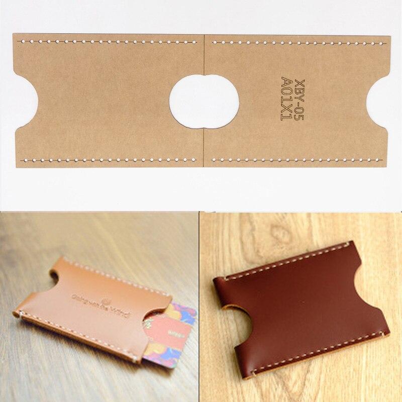 DIY Leather Craft Card Holder Storage Sewing Pattern Hard