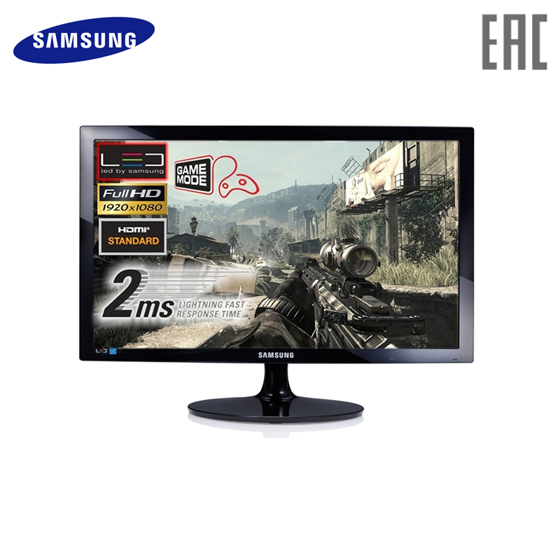 Monitor Samsung 24 S24D300H Black computer display
