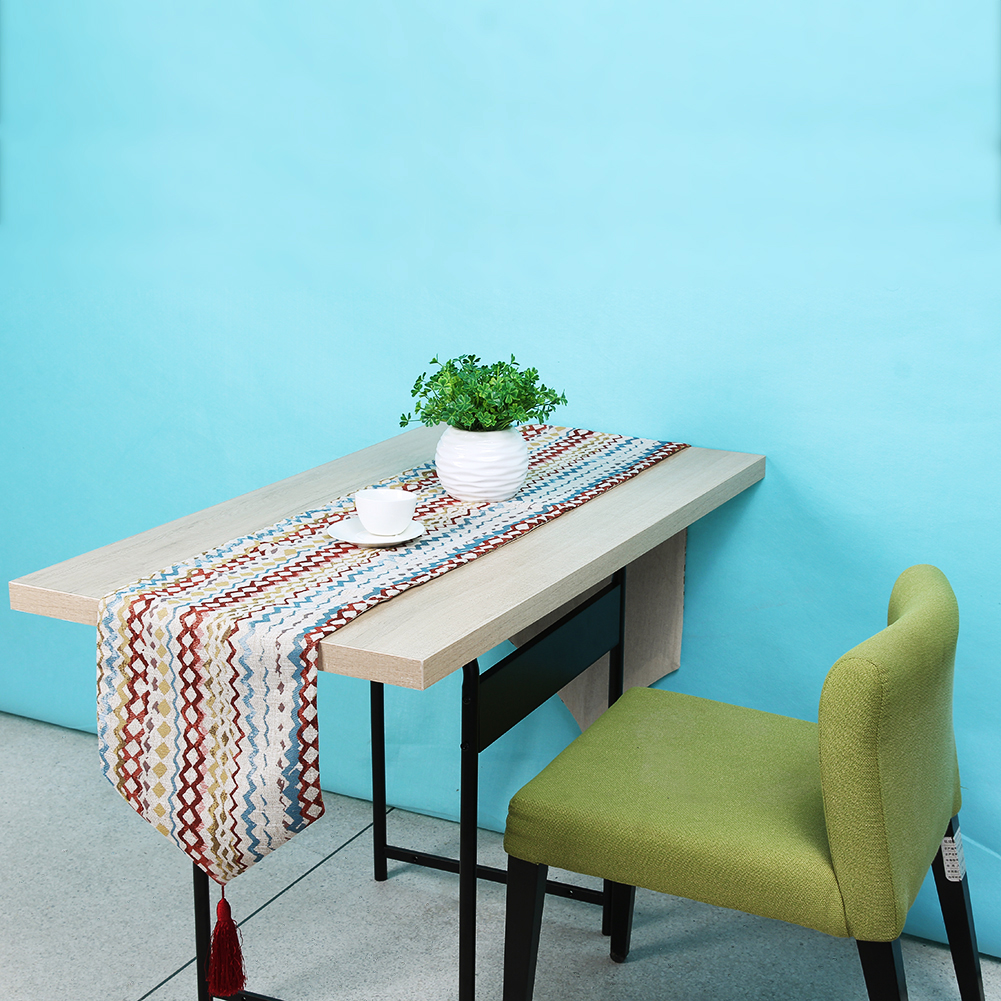 American Style Table Cloth Runner Fashion Desk Flag Bed Table Cloth Cover Jacquard Stripes Home Furnishings Table Bed Flag