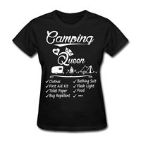 Youth Round Collar Customized T Shirts Women S Crew Neck Short Sleeve Compression Camping Queen Checklist