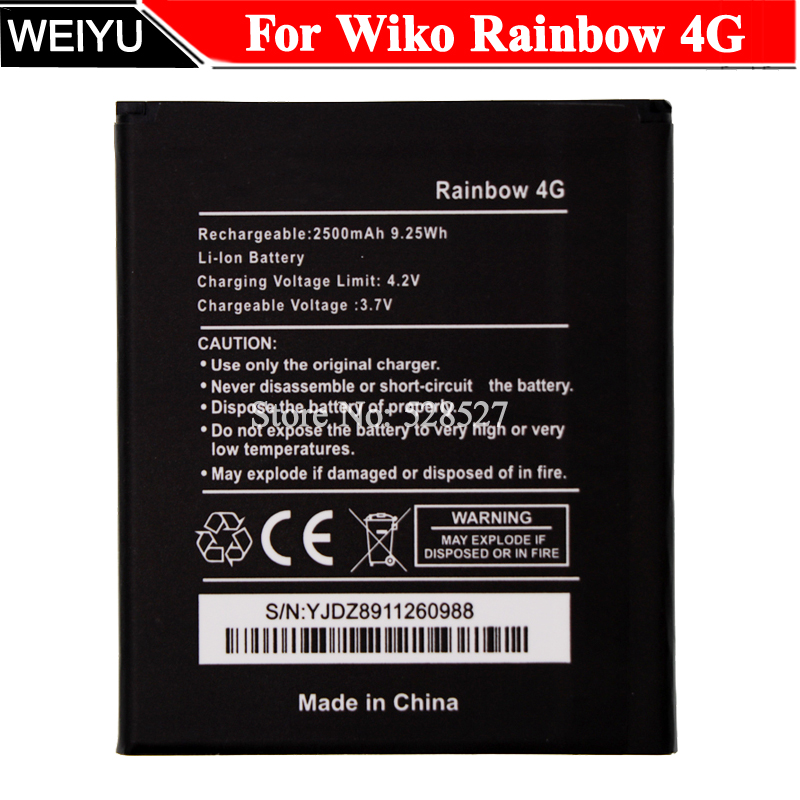 Batterie Mobile-Phone 2500mah For Wiko Rainbow 4G High-Quality