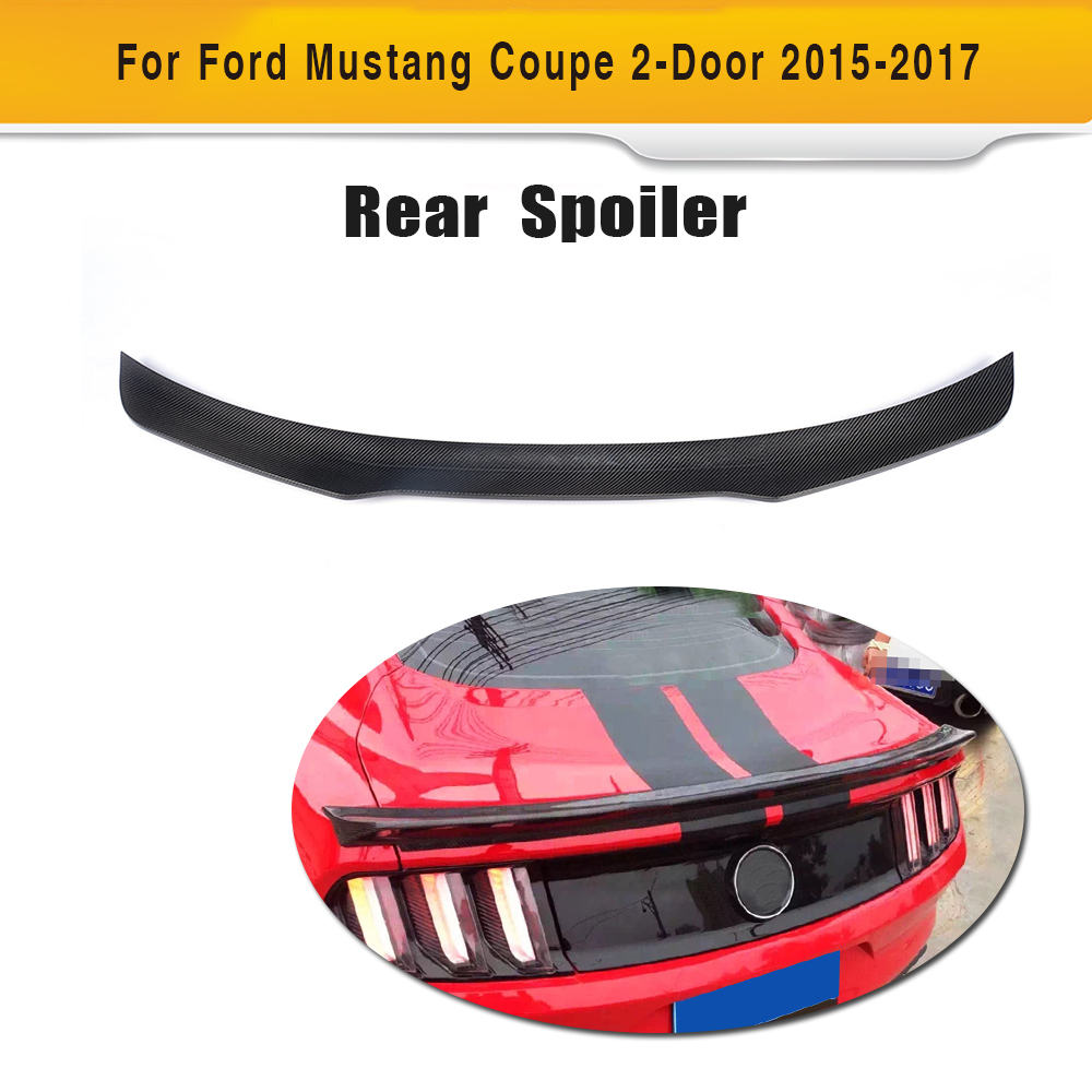 Carbon Fiber Rear Trunk boot lip Wing Spoiler for Ford Mustang GT Coupe 2015 2016 2017 Car tuning parts carbon fiber rear spoiler trunk boot wing for audi a7 s7 s line 2012 2015 jc style car tuning parts