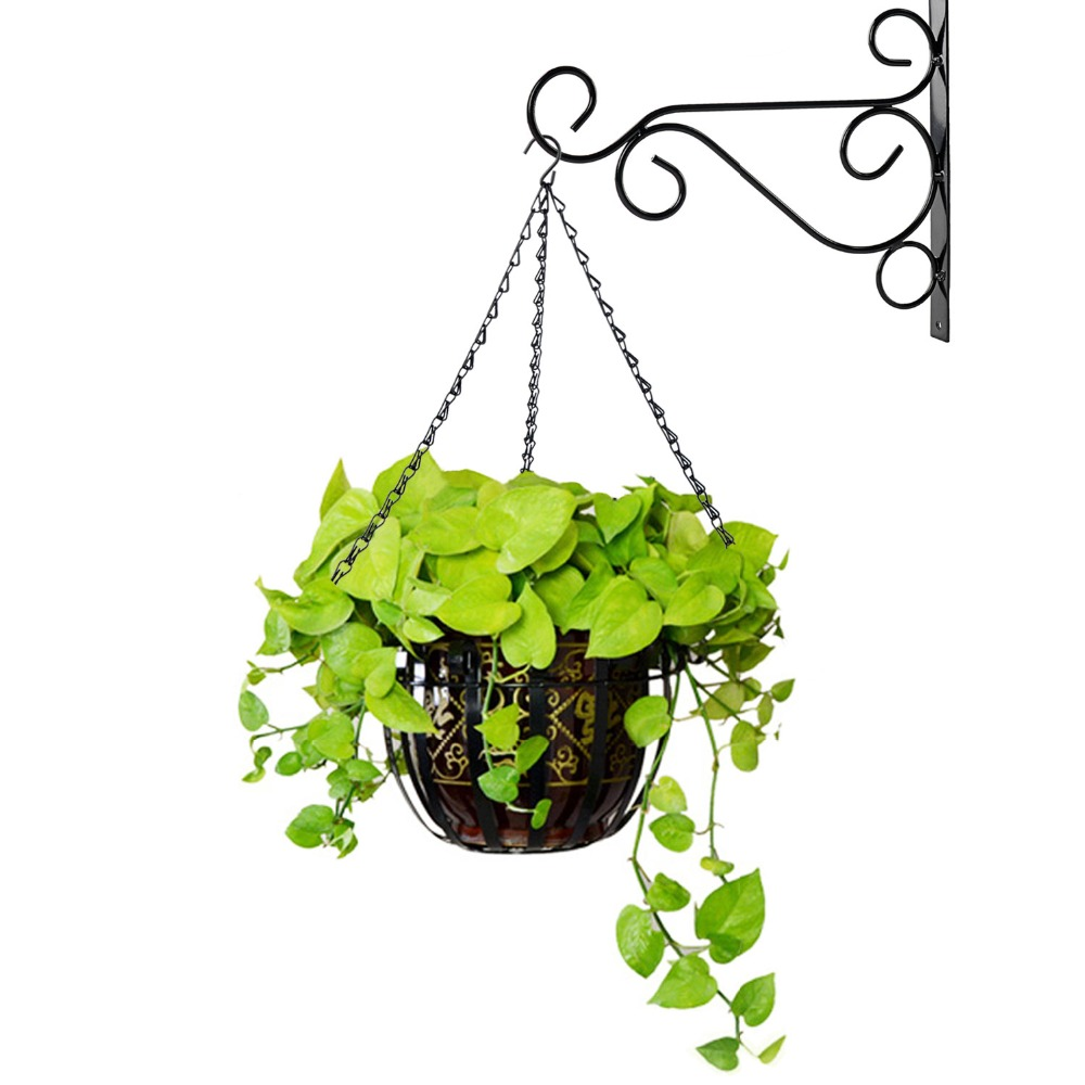 1 Piece 16 20 22 24 Inch Wall Hanging Plant Pot Chain Hooks Bird Cage Flower Basket Tub Hanging Chains