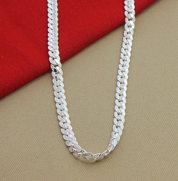 LJ & OMR Gümüş zəncir yaxası 925 Sterling Gümüş Boyunbağı - Moda zərgərlik - Fotoqrafiya 2