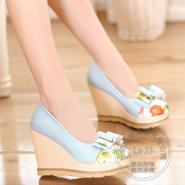 Non Slip Super High Heels Bowknot Fashion Shoes In Small Sizes For Women Woman Wedges Platform 41 Size 34 Discount Teenage Girls