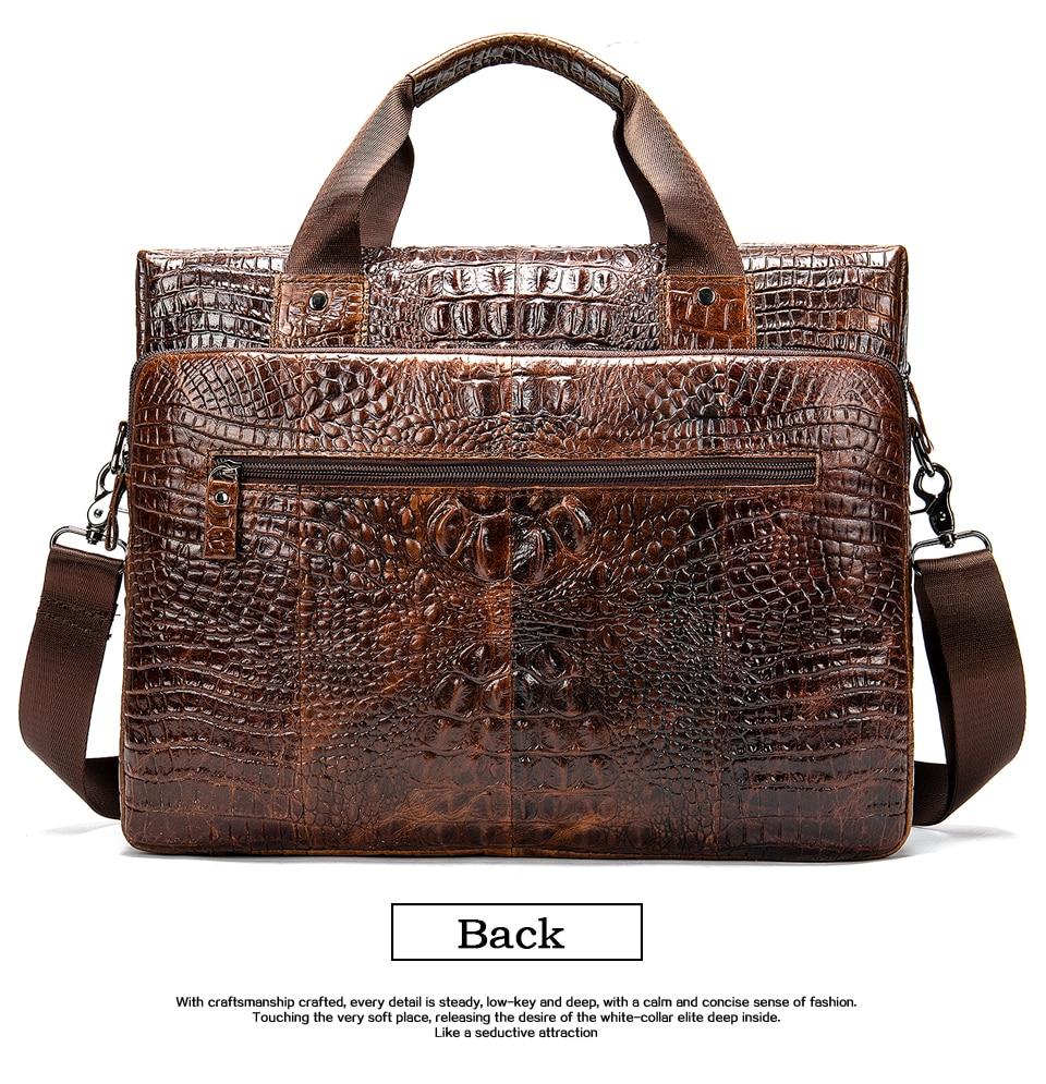 HTB1Y56mXf1G3KVjSZFkq6yK4XXa3 MVA Male briefcase/Bag men's genuine leather bag for men leather laptop bags office bags for men Crocodile Pattern handbag 5555