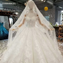 CHANVENUEL LS647744 customize wedding dress with long veil