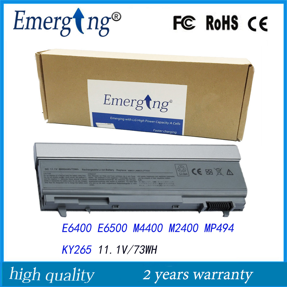 9 zellen neue laptop-<font><b>batterie</b></font> für dell latitude e6400 atg e6500 e6510 pt435 nm633 mp307 <font><b>e6410</b></font> e6510 image