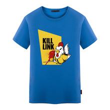 100% Cotton Mens Short Sleeve T Shirts Kill Link Legend of Zelda Kill Bill Printed High Quality Summer T-shirts Fashion Tees