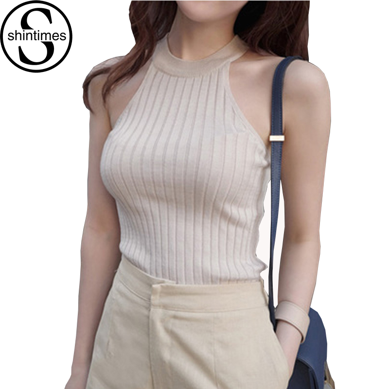 Blusa Bege Off Shoulder Top Beige Ærmeløs Bluse Femme 2017 Sommer Sexy Tops Kvinder Shirt Korean Fashion Clothing Sexies Mujer