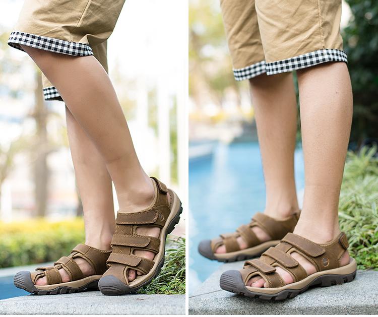 a34b332dc463f ... Product Description super cheap ff318 69ba2  2018 Summer Sandals Men  Grenuine Leather Shoes High Quality Thick Sole Men s Beach Sandals K224 ...  Fashion ...