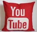 Youtube funda de almohada, social media logo YouTube throw almohada cubierta de almohada venta al por mayor