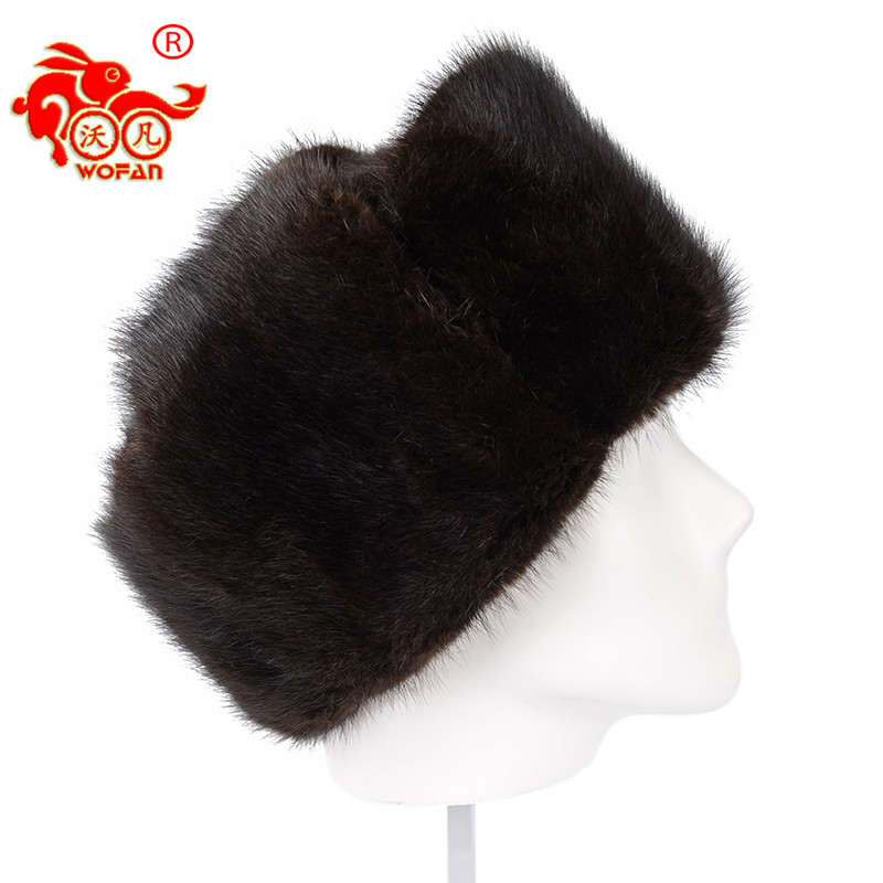 Men's winter fur helmet genuine mink New arrival ear cap warm mink male hat high quality fur black gray best gift for Father foreign trade explosion models in europe and america in winter knit hat fashion warm mink mink hat lady ear cap dhy 36