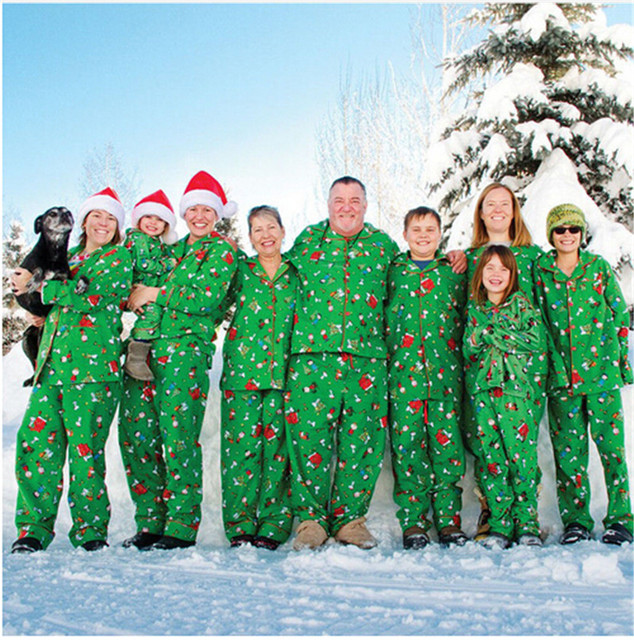 a46ee71ab341 Family Christmas Pajamas Set Xmas Family Matching Clothes 2019 New Hot Sale  Father Mom Kids Bebes New Year Family Love Pjs Sets