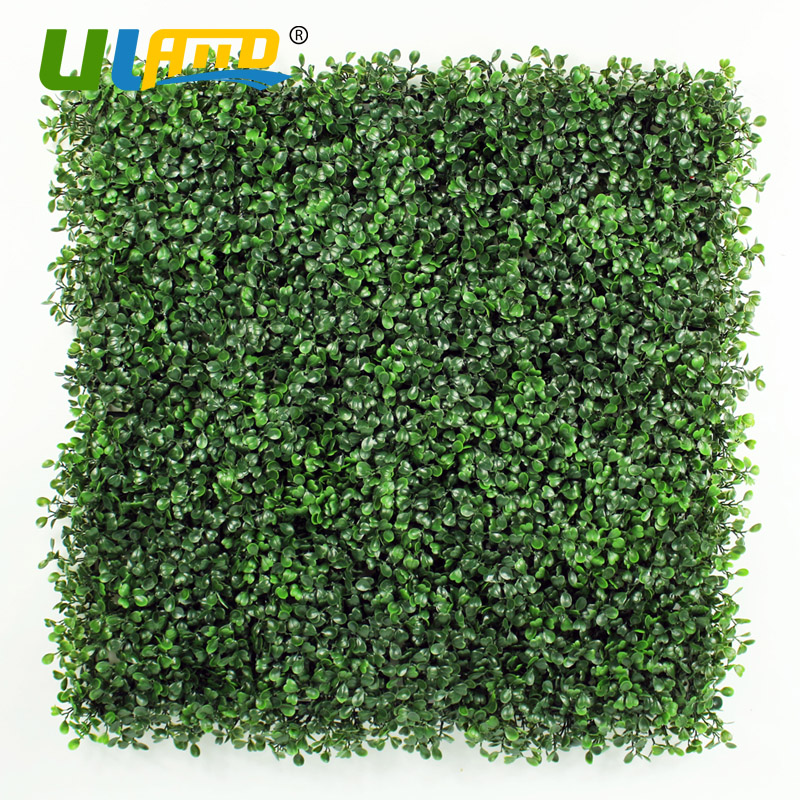 ФОТО ULAND 50cm*50cm Artificial Boxwood Hedge Panels Plastic Garden Fence Greenery Wall for Garden Decoration Privacy Screen