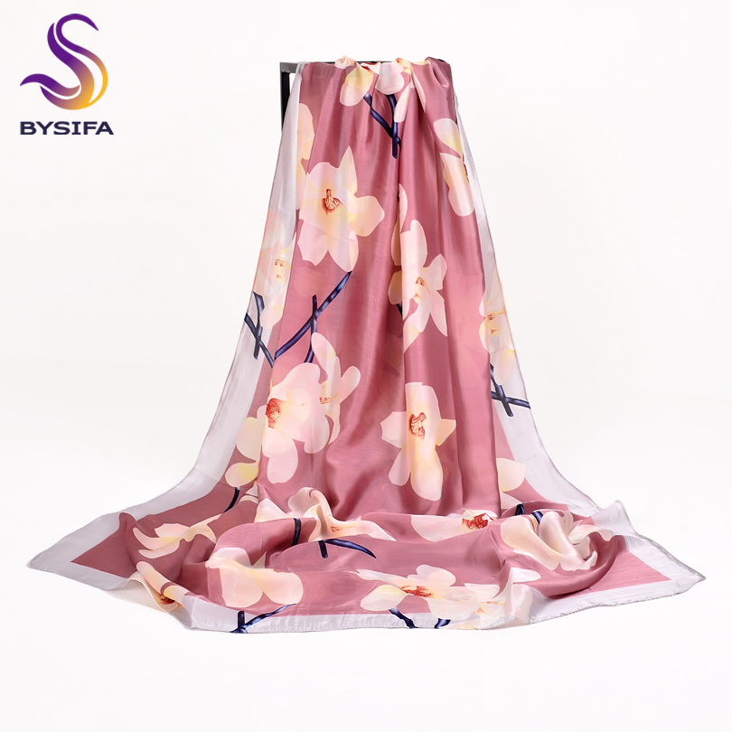 Women Long Silk   Scarf   Beach Shawl Cover-ups For Spring Summer New Elegant Magnolia   Scarves     Wraps   Winter Fashion   Scarves   Capes