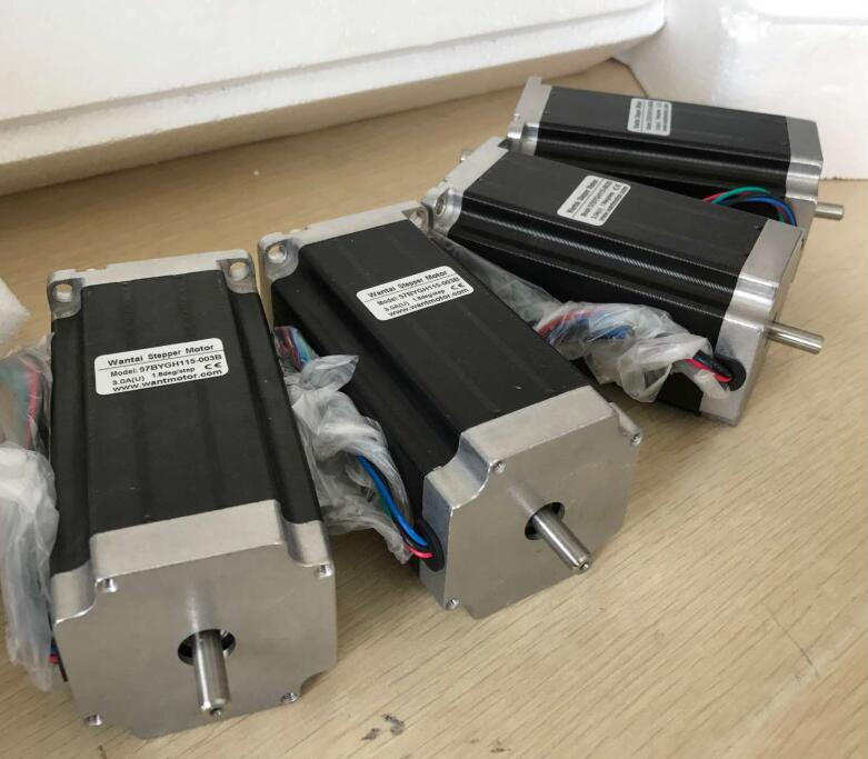 4PCS High Nema 23 wantai Stepper Motor 425oz-in, 2 phase, 57BYGH115-003B CNC Mill Cut Engrave www.wantmotor.com high 3 pcs nema 17 stepper motor 70oz in 2 5a cnc cutting