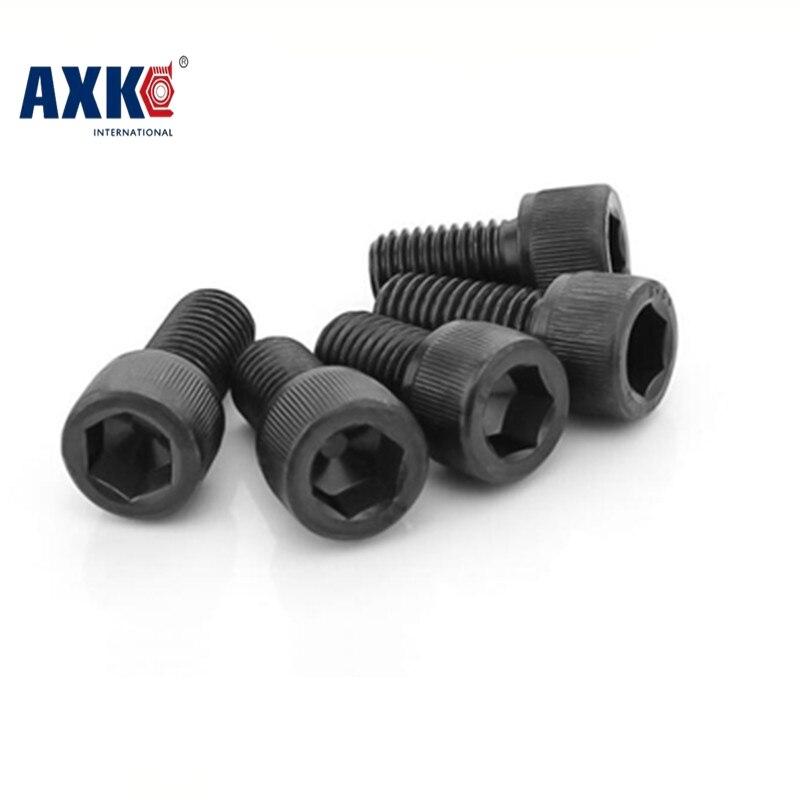 Axk Din912 M2 Metric Thread Black Grade 12.9 Alloy Steel Hex Socket Head Cap Screw Bolts M2*(3/4/5/6/7/8/9/10/12/14/15~40) Mm m2 hex socket pan head button head allen bolt screw 10 9 grade alloy steel