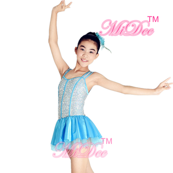 MiDee Jazz Dance Wear Tap & Jazz Dance Dress Competition Costume Stage Performance Contemporary Outfits