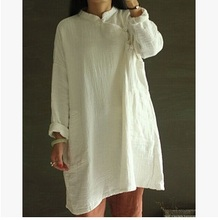 In the autumn of 2015 new products listed, original design loose big yards 100% cotton linen leisure women shirts