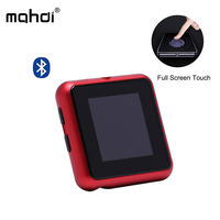 Mahdi MP3 Player Bluetooth Radio FM Mini Digital Audio Player Portable USB Touch Screen Music Player Support TF Card with Clip
