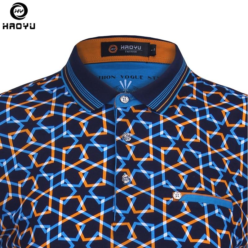 2018 moda de verano para hombre camisa de polo de manga corta patrón - Ropa de hombre - foto 4