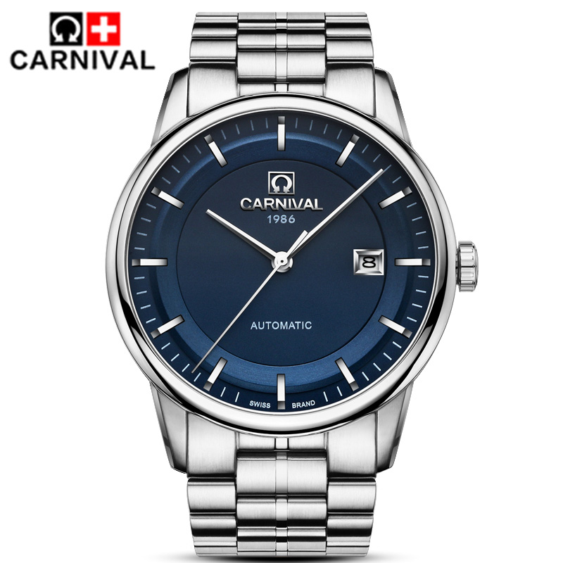 2018 CARNIVAL Reloj Hombre Luxury Brand Men Casual fashion business Watch men mechanical Watches Mens Automatic Relogio2018 CARNIVAL Reloj Hombre Luxury Brand Men Casual fashion business Watch men mechanical Watches Mens Automatic Relogio