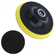 4 Inch Adhesive Disc Electric Suction Pad Self-adhesive Sandpaper with Threaded Hole for Automotive / Metal Polishing