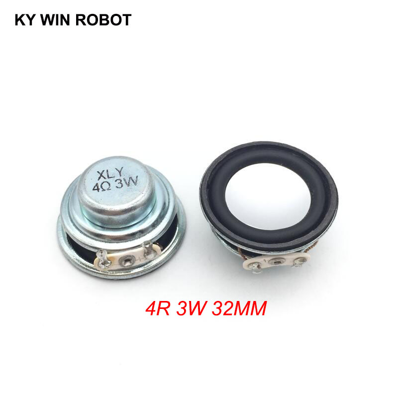 2PCS/Lot High Quality Speaker Horn 3W 4R Diameter 3.2CM 32MM Mini Amplifier Rubber Gasket Loudspeaker Trumpet Thickness 17MM