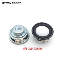 2PCS/Lot High Quality Speaker Horn 3W 4R Diameter 3.2CM 32MM Mini Amplifier Rubber Gasket Loudspeaker Trumpet thickness 17MM
