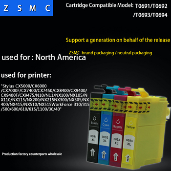 20ピース互換エプソン69インクカートリッジt0691 T0694用nx100 NX115 nx200 NX415 NX215 nx300 nx400 cx6000 cx5000 dx7400プリンタ