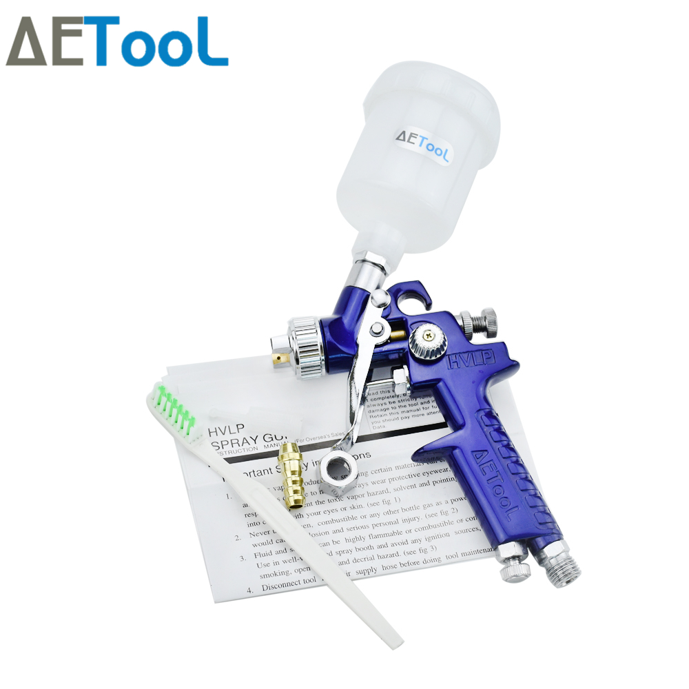 Image 3 - AETool 0.8/1.0mm Nozzle Professional HVLP Spray Guns Sprayer Paint Airbrush Mini Spray Gun for Painting Cars Aerograph Tool-in Spray Guns from Tools on