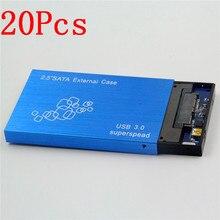 2017 Nuevo 20 Unids 2.5 pulgadas Sata 3.0 a USB 3.0 HDD Caso herramienta Gratuita 2.5 Hdd para Portátiles PC de Escritorio Caja de disco duro