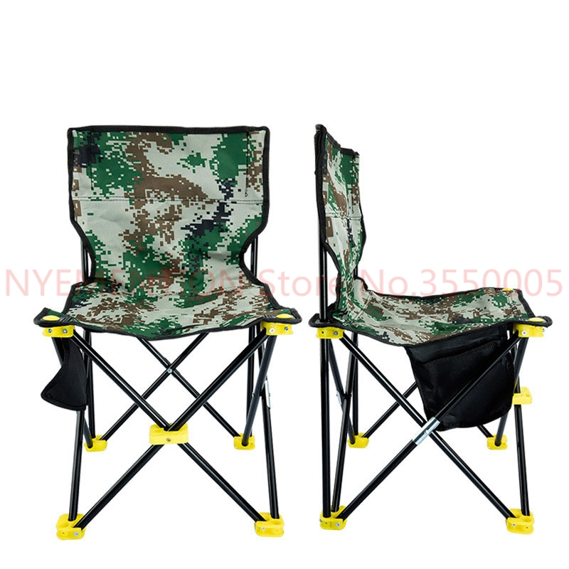 Lightweight Outdoor Fishing Chair Portable Folding Seat Camping Oxford Cloth Foldable Picnic Fishing Beach Chair with Bag 10pcs outdoor fishing chair beach with bag portable folding chairs fishing camping chair seat oxford cloth lightweight seat bbq