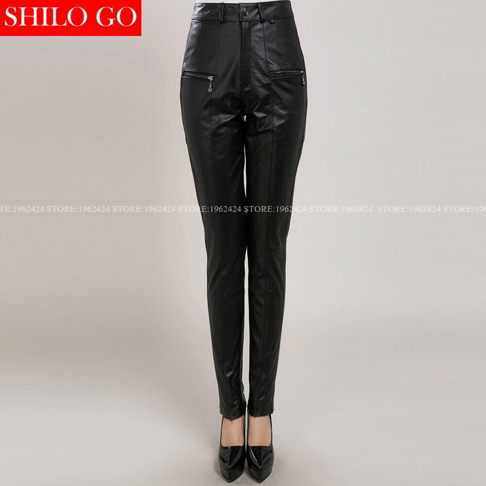 PUNKRAVE otoño cálido artefacto de pie ajustado con estiramiento Casual Delgado negro Leggings ropa de las mujeres - 2
