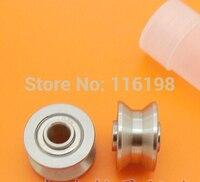 10pcs TU16 T16 U16 T16.5 ABEC5 6mm pulley bearings 5x16.5x9x11mm U groove roller wheel ball bearing T U 16