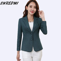 SWREDMI Plus Size 5XL Elegant Business Lady Jacket New 2019 Women Office Lady Work Blazer Female Casual Suit Coat Spring Autumn