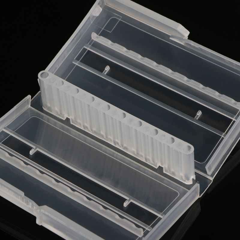 10 Holes Nail Drill Bit Case Plastic Empty Storage Box Milling Cutters Holder