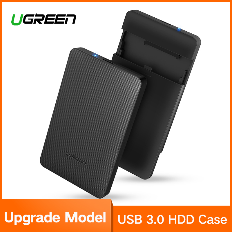Ugreen HDD Enclosure 2.5 inch SATA to USB 3.0 SSD Adapter Hard Disk Drive Box for SSD 1TB 2TB External HDD Case ugreen hdd enclosure sata to usb 3 0 hdd case tool free for 7 9 5mm 2 5 inch sata ssd up to 6tb hard disk box external hdd case
