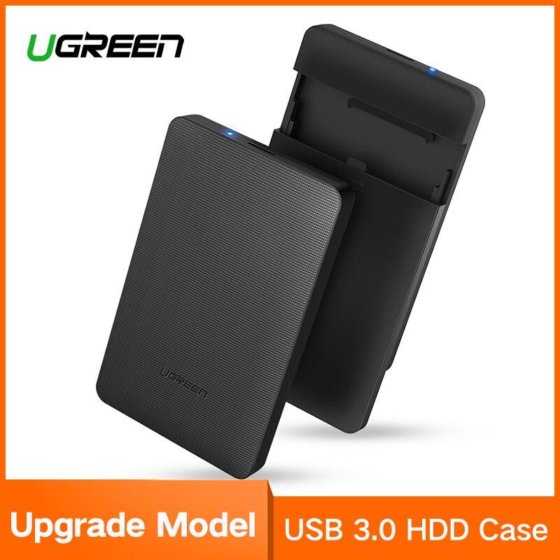 Ugreen HDD de 2,5 pulgadas SATA a USB 3,0 adaptador SSD Disco Duro caja para SSD 1 TB 2 TB disco duro externo