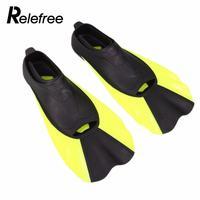 Relefree Pływanie Sprzęt Do Nurkowania Nurkowanie Płetwy Płetwy Krótki Flipper Silikon Przenośny Wygodne Rozmiar XS, S, M, L