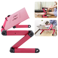 OCEA Adjustable Portable Folding Red Laptop Desk Table Stand Bed Tray For PC Not