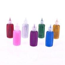 zheFanku 1PC 3D Glitter Glue Decorations Supplies DIY Greeting Card Material Hand