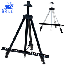 Bergino Sketch Easel Foldable Easel Display Aluminum Alloy Easel Sketch Drawing Frame For Artist Art Tools metal easel for artist painting sketch weeding easel stand drawing table box oil paint laptop accessories painting art supplies