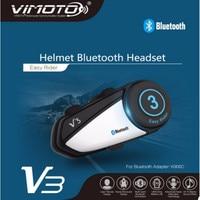 New Arrival Vimoto Brand V3 Multi functional GPS 2 Way Radio Bluetooth Motorcycle Helmet Bluetooth Headset