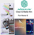 Nillkin Matte Clear Front Back Rear Screen protective film For Huawei Honor 8 Anti-Glare