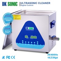 Lab Stainless Steel DK SONIC Ultrasonic Cleaner 10L 240W Ultrasound Bath with Heater for Bullets Shell Motor/Auto Parts 28/40KHz