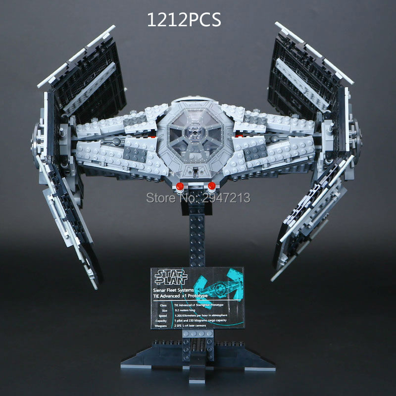 hot compatible LegoINGlys Star Wars series Building Blocks limited edition Vinda TIE Advanced fighter brick Toys for children new mf8 eitan s star icosaix radiolarian puzzle magic cube black and primary limited edition very challenging welcome to buy