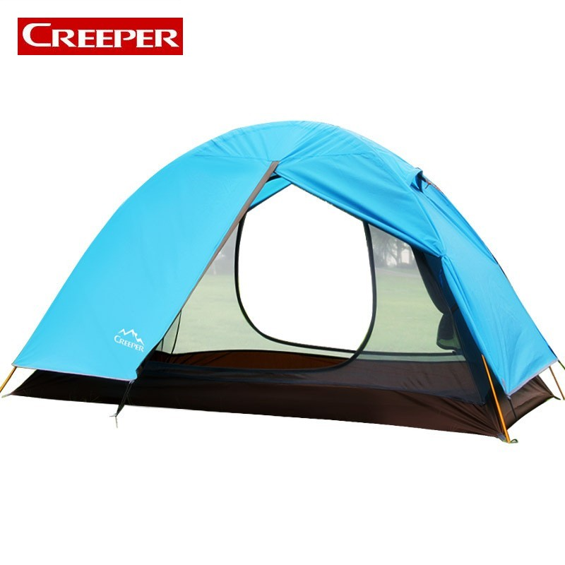 Beach Tent Comfortable Camping tarp 2 Person Double Layers Abri Camping Sun Shelter 4 Season Tent Awning Tarpaulins Waterproof 2 1 5m outdoor tarp sun shelter high quality awning camping