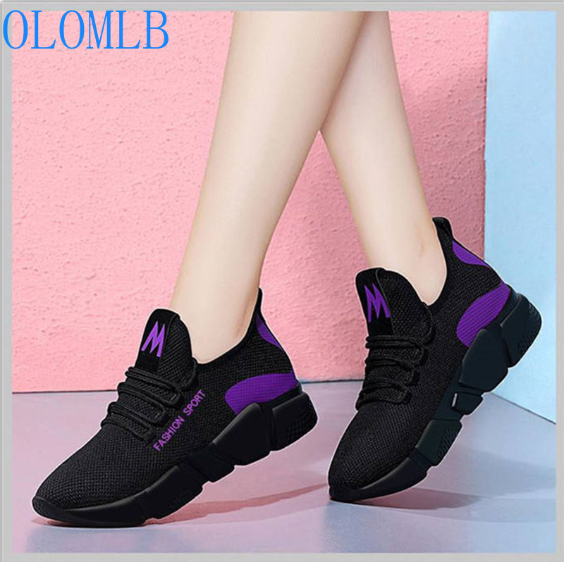 2019 Spring Women Fashion Mesh Lace-up Sneakers Vulcanized Shoes Ladies Casual Shoes Breathable Walking Mesh Flats2019 Spring Women Fashion Mesh Lace-up Sneakers Vulcanized Shoes Ladies Casual Shoes Breathable Walking Mesh Flats